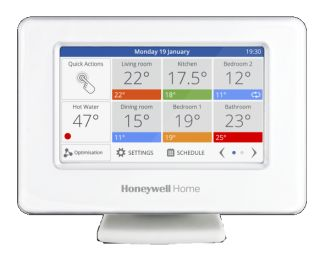 evohome, colour screen multi-zone controller with remote access