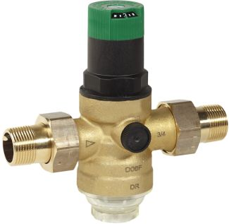 Braukmann Pressure reducing valve with balanced seat and set point scale, D06F