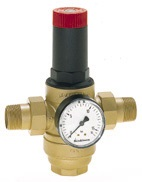 Braukmann High pressure reducing valve with balanced seat and set point scale, D06FH