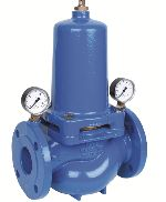 Diaphragm-actuated pressure reducing valve with cartridge insert, D15S
