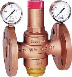 Braukmann Standard pattern pressure reducing valve with flanged connections, D16