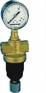 Riduttore di pressione per aria compressa con sede bilanciata a pistone, D22
