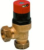 Automatic bypass and differential pressure valvewith differential pressure indicator, DU145