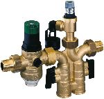 Safety group with interchangeable safety valve insert and pressure reducing valve, SG160SD