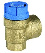Diaphragm safety valve for closed hot drinking water systems, SM150