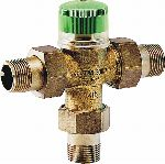 Thermostatic mixing valve with scald protection, TM200
