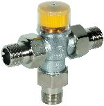 Thermostatic mixing valve with scald protection for solar installations, TM200SOLAR