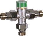 Thermostatic mixing valve with scald protection,TM200VP