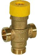 Thermostatic mixing valve with scald protection for solar installations, TM50SOLAR