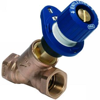 Braukmann V5010 Kombi-3-plus BLUE Double Regulating Balancing Valve