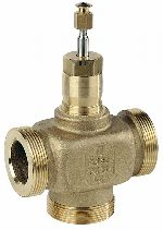Three-way control valve PN16, flat sealing DN15-50, V5013E