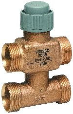 Three-way/bypass control valve PN16, conical sealing DN15/20, V5823C