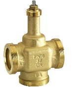 Three-way control valve PN16, flat sealing DN25-40, V5833A