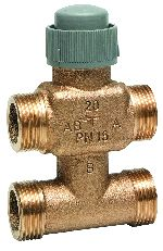 Three-way/bypass control valve PN16, flat sealing DN15/20, V5833C
