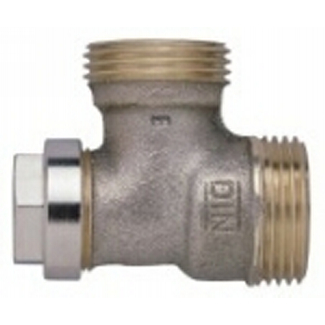 V94 Series Connection fittings for heat exchangers PN10, flat sealing DN15/20